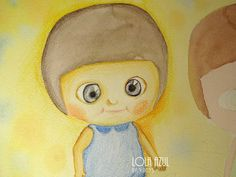 Lola Azul. Apuntes de colores: Últimos dibujos de caras