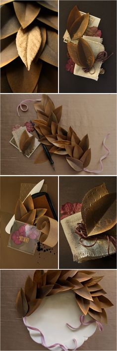 paper leaf tutorial http://www.projectwedding.com/wedding-ideas/diy-paper-leaves-inspiration