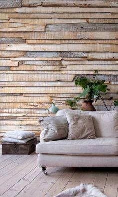 bois, décoration, maison, murs