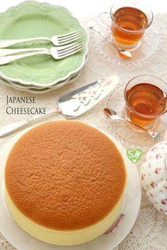SugaryWinzy Soft and Light as Air Japanese Cheesecake Japanese Pastries, Japanese Cake, Cake Cookies, Cupcake Cakes, Japanese Cheesecake Recipes, Japanese Cotton Cheesecake, Baking Recipes, Dessert Recipes, Cocina Natural