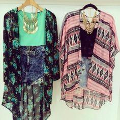 Printed Kimonos - Floral Kimonos - Chiffon Kimonos
