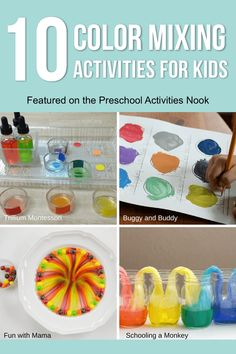 Be inspired with messy color mixing activities for kids perfect for any time of the year! These are great simple science and STEM activities for kids. Colour Activities Eyfs, Color Activities For Toddlers, Preschool Colors, Infant Activities, Kindergarten Activities, Preschool Activities, Nursery Activities, Educational Activities, Colour Mixing Eyfs