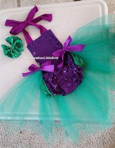mermaid romper sunsuit mermaid birthday outfit first birthday costume the little mermaid romper cake smash