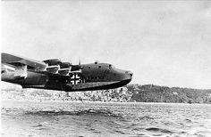 Largest Operational Seaplane of WWII – Blohm & Voss BV 222 Wiking with Great Photos - War Historical Photos Amphibious Aircraft, Ww2 Aircraft, Military Aircraft, Aircraft Images, Luftwaffe, Flying Boat, Ww2 Planes, Ww2 Pictures, Panzer