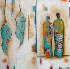 New mixed media painting Togetherness by Sanda Reynolds
