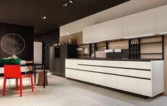 Cozinha lacada com puxadores MY PLANET by Varenna by Poliform