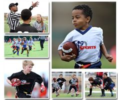 i9 Sports - Youth Flag Football Leagues Flag Football League, Tackle Football, Games For Boys, Perfect Game, Football Program, Camps, Cool Kids, Baseball Cards, Children