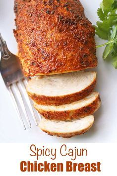 In this easy recipe for cajun chicken, chicken breast is coated with a tasty rub, then baked in a hot oven until perfectly juicy. Baked Cajun Chicken, Cajun Chicken Recipes, Baked Chicken Tenders, Baked Chicken Breast, Cajun Chicken Salad, Recipe Chicken, Keto Chicken, Healthy Chicken, Healthy Food Blogs
