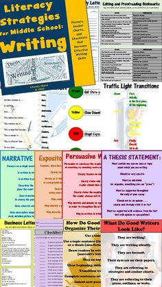 Middle School students are still learning how to write well and they need strategies! These strategies can be used in all content areas to foster common language and help students transfer effective writing skills to all classes and subjects. Includes 22 anchor charts, 3 student bookmarks, and 4 student checklists. Learning Objectives, Teaching Tips, and Common Core State Standards are all included.