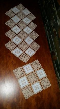Crochet Lace Edging, Filet Crochet, Crochet Doilies, Crochet Flowers, Crochet Patterns, Crochet Table Runner, C2c, Chrochet, Diy And Crafts