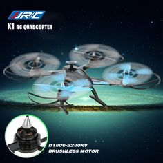 Original JJRC X1 2.4G 4CH 6 Axis Gyro Brushless Motor RC Quadcopter