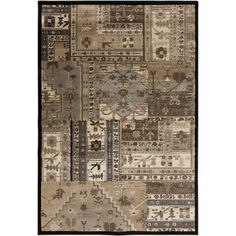 Neutral Nomad Brown Rug (7'9 x 10'6)