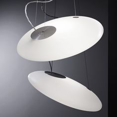 Indirect light fluorescent pendant lamp Glou Glou Pol Collection by Martinelli Luce | design Emiliana Martinelli
