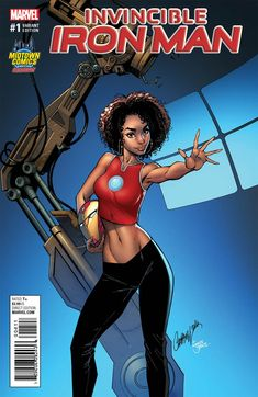 J Scott Campbell Draws The 15 Year Old Riri Williams, The New Iron Man, For Midtown Comics Exclusive Covers Comic Book Artists, Comic Artist, Comic Books Art, New Iron Man, Iron Men 1, Marvel Girls, Comics Girls, Marvel Women, Riri Williams Iron Man