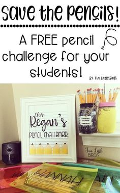 Forget about lost pencils and sharpening during your instruction!  Challenge your students to a FREE pencil challenge and save your sanity!