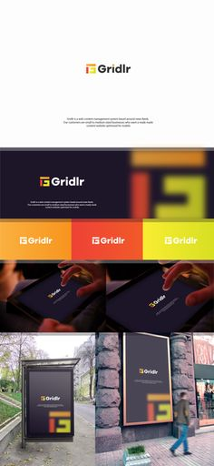 Brand identity for modern web content and news feed system by Janna Grace ™