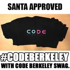 Code Berkeley tshirts for sale promoting the  Web and Mobile Multimedia strand at Berkeley City College.