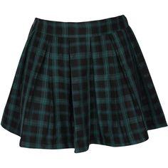 Green Tartan Skirt ($17) ❤ liked on Polyvore featuring skirts, bottoms, saias, faldas, green skirt, tartan pleated skirt, green tartan skirt, black plaid skirt and black pleated skirt