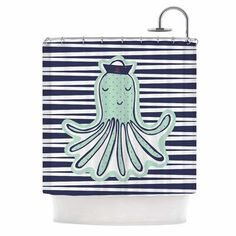 KESS InHouse Pulpo by MaJoBV Octopus Shower Curtain