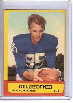 1963 Topps Del Shofner Card #50 NEW YORK GIANTS #NewYorkGiants