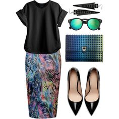 The Rainbow Connection by the-classics on Polyvore featuring мода, Cynthia Rowley, Glamorous, Zara, Proenza Schouler, Pieces, Illesteva, classic and SimpleOutfits