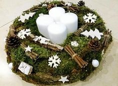 Adventný veniec, Vianoce môžu prísť:) Autorka: tinkask. Artmama.sk
