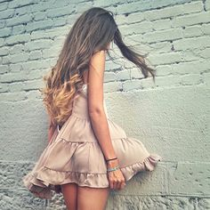 Shop Women's Brandy Melville Pink size OS Dresses at a discounted price at Poshmark. Description: Brand new with tags Brandy Melville Blush Pink jada dress. One size! Medium Hair Styles, Long Hair Styles, Brandy Melville Dress, Long Hair Cuts, Ginger Hair, Flowy Tops, Hair Pictures, Curled Hairstyles, Prom Hair
