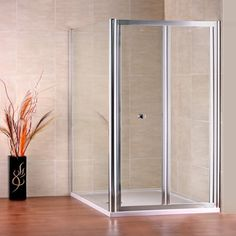 800x800mm Stone tray Bifold Shower Door Enclosure Cubicle F89