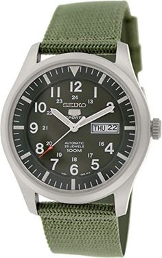 Seiko 5 Sport Automatic Khaki Green Canvas Mens Watch SNZG09 Seiko http://www.amazon.com/dp/B005NYLO08/ref=cm_sw_r_pi_dp_HwQ5vb0CK7JGB