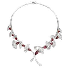 VAN CLEEF & ARPELS. Parade Necklace in white and yellow gold with rubies and diamonds.
