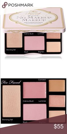 NWT Too Faced The Secret to No Makeup Makeup Too Faced The Secret to No Makeup Makeup Fresh and Flawless Face Palette, NWT. A complete palette of six products to create the perfect No Makeup Makeup look: - Shimmer Veil - Crème Blush - Powder Blush - Concealer - Luminizer and Brightener. Multitasking palette that creates a flawless complexion! Too Faced Makeup Blush