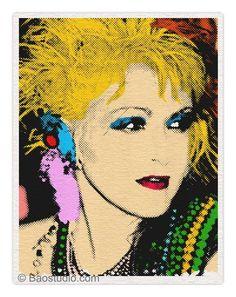 Cindi Lauper by Andy Warhol