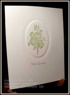 Sympathy Bouquet by inkpad - Cards and Paper Crafts at Splitcoaststampers