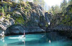 zip-lining into a gorgeous lagoon #bucketlist