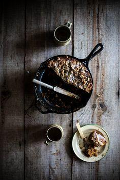 Crème Fraîche, Cornmeal, & Pumpkin Coffee Cake with Pepita Streusel | Local Milk