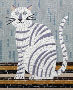 Cat Mosaic by Lisa Houck