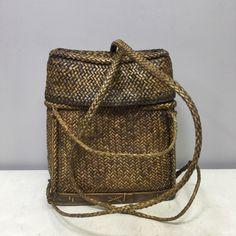 Wonderful rattan Ifuago Philippines backpack.