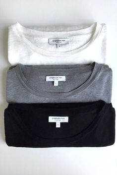 MINIMAL + CLASSIC: Every girl needs some simple tees in their closet. Luxe Emerson Crewneck - Sterling | Emerson Fry