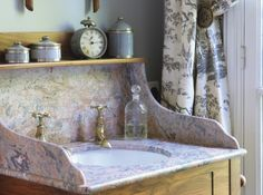 Salles de bains toile de jouy curtain