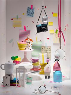 An artful window display by stylist Irina Graewe. #retail #merchandising #display #inspiration