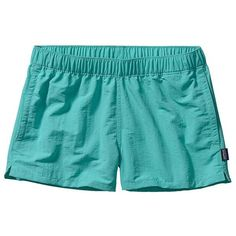 Patagonia Women's Barely Baggies Shorts 2 1/2 Inches ($49) ❤ liked on Polyvore featuring activewear, activewear shorts, patagonia sportswear and patagonia