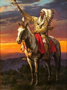 native american indians Alfredo Rodriguez - The Signal Native American Horses, Native American Tattoos, Native American Warrior, Native American Paintings, Native American Pictures, Native American Artists, Native American History, Indian Paintings, American Symbols