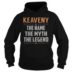 I Love KEAVENY The Myth, Legend - Last Name, Surname T-Shirt T shirts
