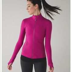 NWT Lululemon Define Jacket Brand new with tags!  Raspberry color.  Currently $118 at Lululemon.  Please see last photo for complete description. lululemon athletica Jackets & Coats