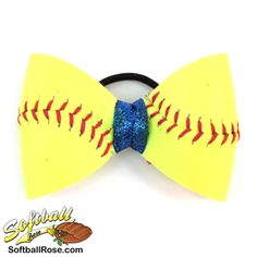Handmade Softball Hair Bow made from real softball leather Softball Hair Bows, Softball Things, Softball Quotes, Softball Stuff, Softball Decorations, Softball Hairstyles, Different Font Styles, Softball Catcher, Softball Players