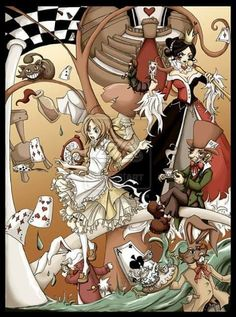 FULL VIEW RECOMMENDED Sum Alice in Wonderland, inspired by that movie, that one that's not Disney and is played by real people. Although the influence of the Disney version clearly shows there. Alice And Wonderland Quotes, Adventures In Wonderland, Fan Art Sherlock, Percy Jackson Fanart, Irene Adler, Art Manga, Anime Art, Were All Mad Here, Viria