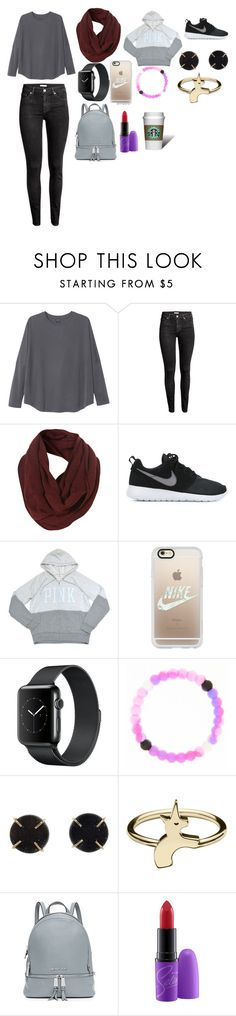 """""""Untitled #26"""" by hofer03 ❤ liked on Polyvore featuring Monki, H&M, Topman, NIKE, Victoria's Secret PINK, Casetify, claire's, Melissa Joy Manning and MICHAEL Michael Kors"""