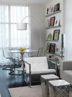 The Modern Floating Wall Shelves Nice Set Up For Condo Living
