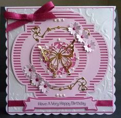 Another card made using the Twisted Veranda die set and Rococo butterfly