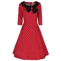 Cassy Red Swing Party Dress | Vintage Inspired Fashion - Lindy Bop